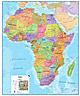 Politische Afrika Karte