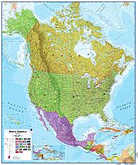 Politische Landkarte von Nordamerika