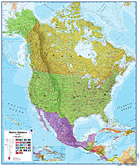 Nordamerika Karte als Poster
