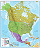 North America wall map Poster political