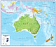 Politische Australien Asien Karte