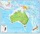 Political Australia Asia Map