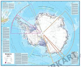 Antarktis / Südpol Karte