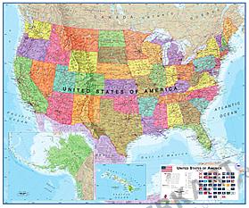 Politische USA Landkarte