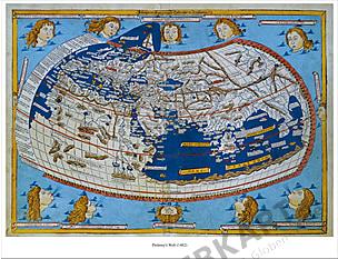 Ptolemy's Welt (1482) 71 x 56cm