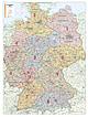 Postleitzahlenkarte Deutschland (Großformat) 131 x 174cm