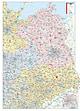Postleitzahlenkarte Nord- und Ostdeutschland 110 x 153cm