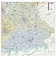 Postleitzahlenkarte Bayern 110 x 112cm