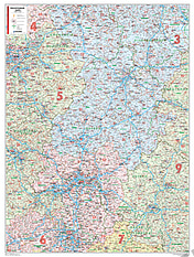 Postleitzahlenkarte Hessen