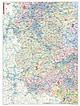 Postleitzahlenkarte Rheinland Pfalz / Saarland 98 x 130cm