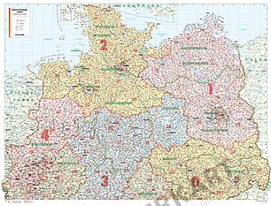 Postleitzahlenkarte Norddeutschland