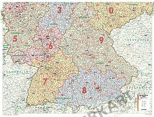 Postnummer Kort Sydtyskland