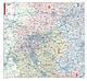 Postleitzahlenkarte Nordrhein Westfalen 107 x 98cm