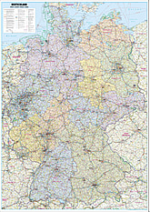Street map of Germany poster