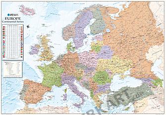 Political Europe Map english XXL 275 x 190cm