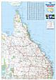 Queensland Landkarte Poster