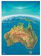 Australien Panorama Karte