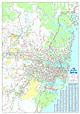 Greater Sydney Karte 70 x 100cm