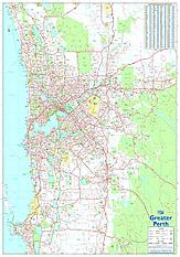 Greater Perth Karte 70 x 100cm