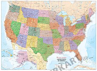Politische USA Landkarte (GM) 140 x 102cm