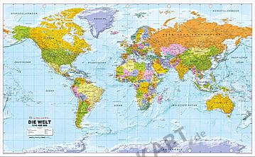 Politische Weltkarte XXL deutsch 275 x 170cm