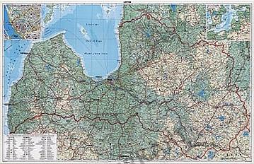 Lettland Landkarte