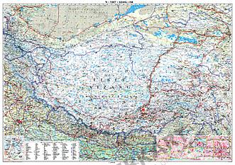 Tibet Landkarte