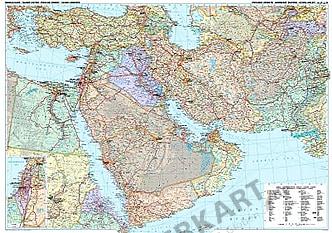 Mittlerer Osten Landkarte