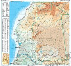 Mauretanien Landkarte physikalisch