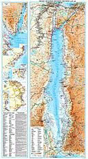 Rotes Meer physikalische Landkarte
