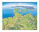 Panorama Landkarte Norddeutschland