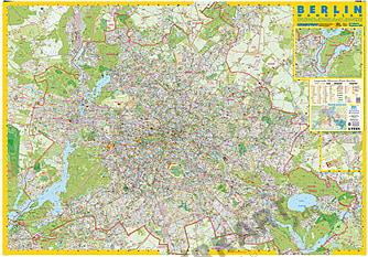 Berlin kort væg kort
