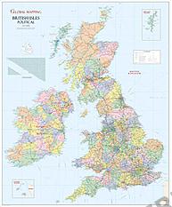 Britische Inseln politische Landkarte 91 x 110cm