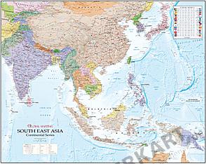 Süd Ost Asien Landkarte (GM) 120 x 95cm