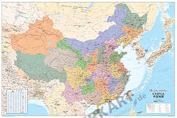 China Landkarte (GM) 140 x 94cm