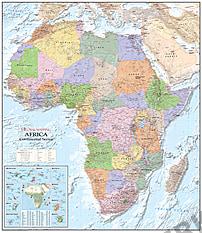 Politische Afrika Karte (GM)