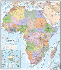 Politisk Afrika kort