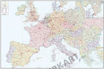 Eisenbahnlinien in Europa