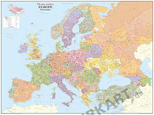 Postleitzahlenkarte Europa (GM)