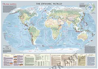 Dynamische Welt - Weltkarte 133 x 93cm