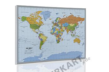Politische Weltkarte Kork Pinnwand - deutsch 90 x 60cm