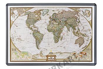 Weltkarte Executiv auf Kork Pinnwand