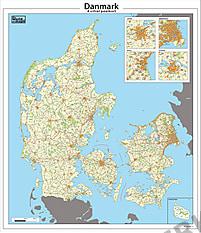 Postleitzahlenkarte Dänemark