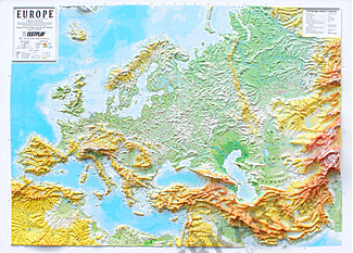 3D Relief Panorama Europe Map