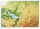3D Relief Karte Bodensee / Allgäu