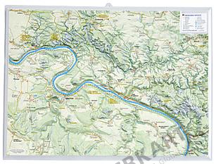3D Reliefkarte Sächsische Schweiz 39 x 29cm