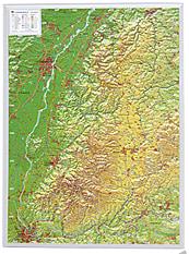 3D Reliefkarte Schwarzwald klein