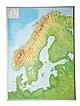3D Relief Karte Skandinavien 57 x 77cm