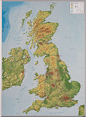 3D Relief Map of Great Britain