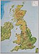 3D Relief Karte Großbritannien